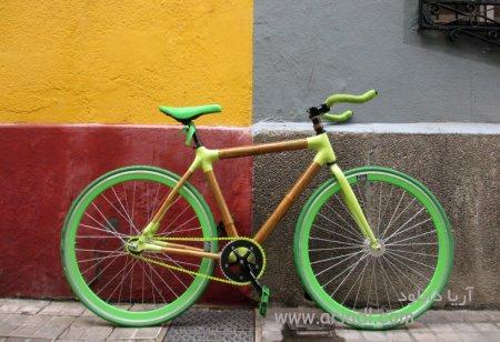 ابتکار ساخت دوچرخه به وسیله بامبو و فیبر کربن