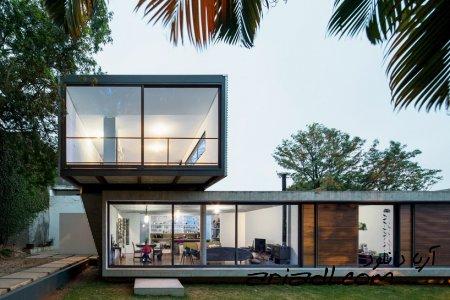 خانه در حومه شهر سائو پائولو در برزیل به همراه پشت خانه