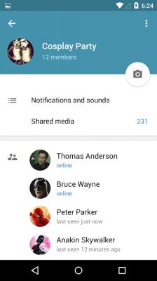 آنلاین های تلگرام