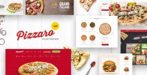 قالب فروشگاهی فست فود و رستوران برای وردپرس- Pizzaro v1.1.3