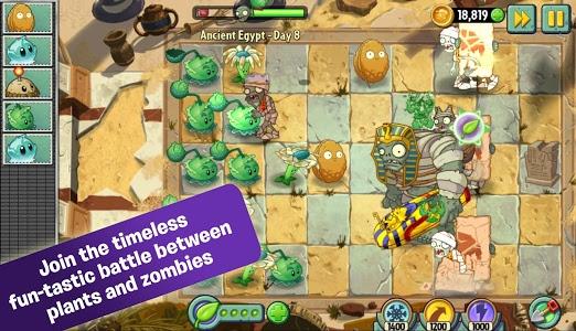 دانلود plants vs zombies 2 هک شده