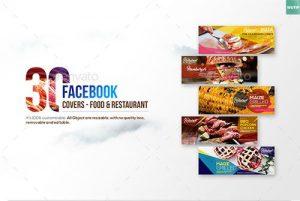 30 کاور برای صفحات اجتماعی رستوران ها