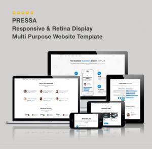 قالب چند منظوره Pressa - Multi Purpose HTML5